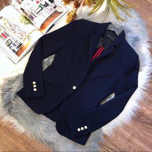 Zara | Waffle Knit Navy One Button Blazer Sz M
